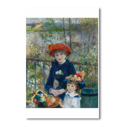 """PosterEnvy - Two Sisters on the Terrace 1881 - Pierre Auguste Renoir - Art Print POSTER - 12"""" x 18"""" Two Sisters on the Terrace 1881 - Pierre Auguste Renoir - Art Print POSTER on heavy duty, durable 80lb Satin paper"""