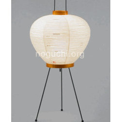 "Table Lamp Model 3A - Paper lanterns carry their weight when it comes to lighting up spaces. This accommodates up to a 40 watt bulb and stands 22"" tall."