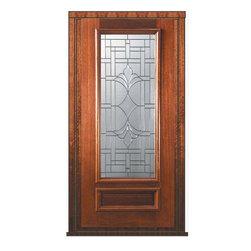 """Pre-hung Single Door 80 Wood Mahogany Marsala 1 Panel 3/4 Lite Glass - SKU#P14572-G-DP34M1BrandGlassCraftDoor TypeExteriorManufacturer Collection3/4 Lite Entry DoorsDoor ModelMarsalaDoor MaterialWoodWoodgrainMahoganyVeneerPrice2305Door Size Options  +$percent  +$percentCore TypeDoor StyleDoor Lite Style3/4 LiteDoor Panel Style1 PanelHome Style MatchingDoor ConstructionPortobelloPrehanging OptionsPrehungPrehung ConfigurationSingle DoorDoor Thickness (Inches)1.75Glass Thickness (Inches)Glass TypeTriple GlazedGlass CamingOil Rubbed Bronze , Satin NickelGlass FeaturesTempered , BeveledGlass StyleGlass TextureGlass ObscurityDoor FeaturesDoor ApprovalsWind-load Rated , FSC , TCEQ , AMD , NFRC-IG , IRC , NFRC-Safety GlassDoor FinishesDoor AccessoriesWeight (lbs)310Crating Size25"""" (w)x 108"""" (l)x 52"""" (h)Lead TimeSlab Doors: 7 Business DaysPrehung:14 Business DaysPrefinished, PreHung:21 Business DaysWarrantyOne (1) year limited warranty for all unfinished wood doorsOne (1) year limited warranty for all factory?finished wood doors"""