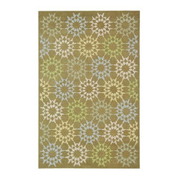 Safavieh - Martha Stewart Rug in Pebble and Gray (5 ft. 9 in. x 3 ft. 9 in.) - Size: 5 ft. 9 in. x 3 ft. 9 in. Hand hooked. Floral design. Made from cotton. Pile height: 0. 25 in. The classic geometrics of an American Country Quilt appear refreshingly new in the soft and contemporary Block Quilt. Natural cotton yarns are densely hand-tufted in China to create a loop-pile background and subtle cut-pile motif, enhanced by the muted tonalities of its neutral palette.