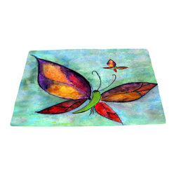 xmarc - Garden Area Plush Area Rugs From Original Art, Butterfly, 48 X 30 - Garden area plush area rugs from original art. Tree frogs, dragonflies, flowers, lady bug, butterflies.