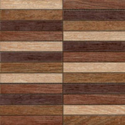 Sintesi - Sintesi Wood Mix Mosaic - Sintesi Wood is manufactured from high quality porcelain. Rest assured that you are getting a beautiful Italian produced product when you order this wood-look tile.