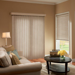 Graber - Graber Fabric Vertical Blind: Weaves Collection - Graber verticals add drama, dimension and contemporary styling to patio doors and wider windows.  Weaves fabric vertical blinds feature a basic color collection to match most any decor and have a stitched texture.