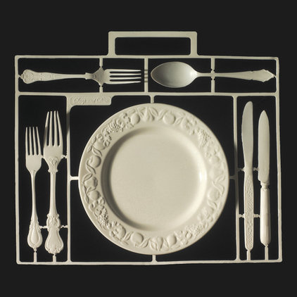 eclectic dinnerware by Demelza Hill
