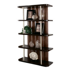 American Drew - American Drew Miramar 4 Shelf Etagere in Auburn on Prima Vera - Belongs to Miramar Collection by American Drew, Auburn on Prima Vera Finish, Smoky Brown Accents, 4 Fixed Shelves, Etagere 1