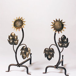Feu Follet Andirons - These wrought iron andirons are French and very unusual. Wouldn't they look just perfect in your fireplace?