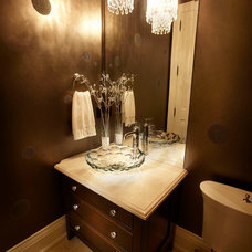 Contemporary Powder Room by Parkyn Design