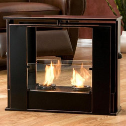 Holly & Martin - Walton Portable Indoor/Outdoor Gel Fireplace - Portable design moves anywhere. Provides up to 6000 BTU's of heat output. Holds 2 cans of FireGlo Gel Fuel. Durable sheet metal construction. Painted black finish with copper accent. 5 mm tempered glass sides. No assembly required. 24 in. W x 8.25 in. D x 20.25 in. H (21 lbs.). Assembly instructionsEnliven any space with this portable metal gel fuel fireplace. This unique design sits conveniently on a patio, floor, or table for instant relaxation. Finished with a painted black finish with copper edges, this fireplace will hold up to 2 cans of gel fuel providing a rich fiery glow perfect for relaxation. Each can lasts up to 3 hours on a single burn and puts off up to 3,000 BTU's. Gel fuel must be purchased separately. This portable fireplace also makes a convenient and unique space for burning and displaying candles simply by placing the included snuffer cover on top of the gel fuel can openings.