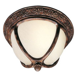 Maxim Lighting - Maxim Lighting 85469SFSE Knob Hill EE 2-Light Outdoor Ceiling Mount in Sienna - Knob Hill EE is a traditional, early American style, energy saving collection from Maxim Lighting International in Sienna finish with Snow Flake glass.