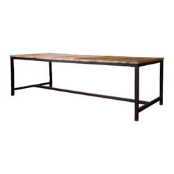 Chelsea Dining Table - This very rustic table has such a simple form - it's all about the reclaimed elm top.