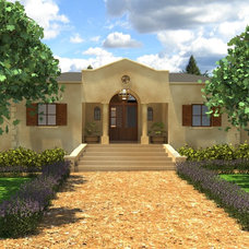 Farmhouse Exterior Elevation by VKV Visuals