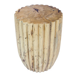 LOTUS Accent Table - Unusual lotus shaped side/coffee table. Made from one solid piece of Suar wood.