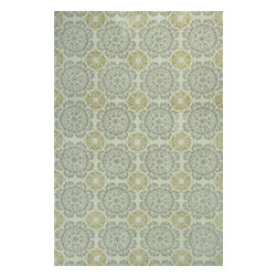 """KAS - KAS Allure 4056 Suzani (Silver) 6'7"""" x 9'6"""" Rug - This Hand Tufted rug would make a great addition to any room in the house. The plush feel and durability of this rug will make it a must for your home. Free Shipping - Quick Delivery - Satisfaction Guaranteed"""