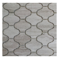 "GL Stone - Marble Lantern Shaped Mosaic Tile 11.0"" X 11.0"", Wooden Grey, 1 Carton ( 15 Shee - Arabesque Mosaic Tile comes with polished surface and looks like lantern shaped. Our arabesque marble wall & floor tiles are perfect choices to enhance the interior decor, such as bathroom wall, kitchen back splash, surround wall, etc. It will sell by 11.0"" X 11.0"", 0.84 square foot per sheet. The color also use the popular wooden grey."