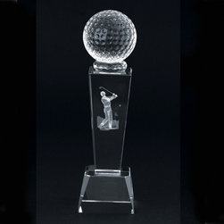 Kito - 8.58 Inch High Quality Clear Crystal Holographic Golf Trophy - This gorgeous 8.58 Inch High Quality Clear Crystal Holographic Golf Trophy has the finest details and highest quality you will find anywhere! 8.58 Inch High Quality Clear Crystal Holographic Golf Trophy is truly remarkable.