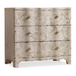 "Hooker Furniture - Hooker Furniture Three Drawer Handpainted Chest - Crafted with poplar and hardwood solids this chest features three drawers. Three drawers. Poplar and Hardwood Solids. Dimensions: 36.25""W x 18""D x 34.5""H."