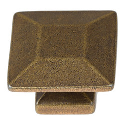 "GlideRite Hardware - GlideRite 1-3/8"" Square Knob Antique Brass - Upgrade your cabinets with this classic square antique brass knob. Each knob is individually packaged to prevent damage to the finish. A standard installation screw is included."