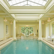 Traditional Pool by TEA2 Architects
