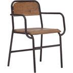 Zuo Modern - Zuo Modern West Portal Distressed Chair - Schoolhouse Rock. Get a great throwback look with the West Portal Distressed Chair from Zuo Modern. Crafted with a vintage-inspired metal frame and fir back and seat, this piece has a resemblance to vintage school seating, but you don't have to have a classroom to get this minimal look. Incorporate into your living room, or use as a home office chair--the possibilities are endless. This piece definitely makes the grade. Crafted from fir and metalShips in one week