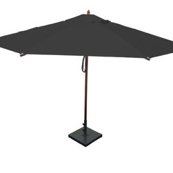 Greencorner - 13' Octagon Mahogany Umbrella, Black - 13' Octagon