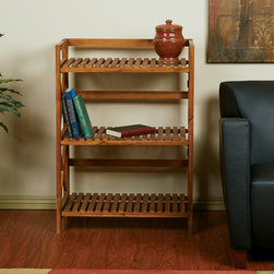 Office Star Products - Hayden Triple Tiered Cross-stroke Design Solid Wood Shelf Rack - A shelf rack with classic styling and solid wood construction arrives in the all new Hayden Three Level Shelving Unit. Ideal for kitchen ware or potted greenery,this thrice tiered cross-stroke designed piece is as attractive as it is affordable.
