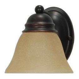 "Nuvo Lighting - Nuvo Lighting 60/1269 Single Light Reversible Lighting 6.25"" Wide Bathroom Fixtu - *Single light reversible lighting bathroom fixture featuring alabaster bell glass"