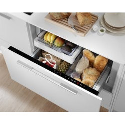 Fisher & Paykel CoolDrawer - Fisher & Paykel's versatile CoolDrawer is three appliances in one -- a freezer, refrigerator and wine chiller.  You decide which one you need at any given time, and switch easily between the three functions.  That flexibility makes the CoolDrawer a natural for tight spaces!