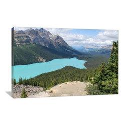 """Artsy Canvas - Peyto Lake, Banff National Park 24"""" X 16"""" Gallery Wrapped Canvas Wall Art - Peyto Lake, Banff National Park.  Jbindy2 beautifully represented on 24"""" x 16"""" high-quality, gallery wrapped canvas wall art"""
