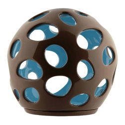 Alessi - Baby Tealight Holder by Alessi - The Alessi Baby Tealight Holder--cute and contemporary. The double-porcelain composition and glossy, contrasting colors give this tealight holder a unique modern quality perfect for any room in the house. Create a sculptural centerpiece by grouping several together around the Baby Fruit Basket. Alessi, known as the Italian design factory, has manufactured household products since 1921. The stylish and fun items offered are the result of contemporary partnerships with some of the world's best designers of unique and modern home accessories.