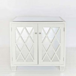 Collette Chest by Worlds Away - This mirror and lacquered lattice chest from World's Away will add instant drama and glamor to any room in your home. Personally, I'd want a pair to use as nightstands or a single to turn into a swanky little bar in my dining room.