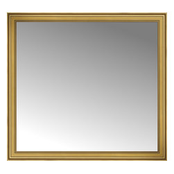 "Posters 2 Prints, LLC - 67"" x 62"" Arqadia Gold Traditional Custom Framed Mirror - 67"" x 62"" Custom Framed Mirror made by Posters 2 Prints. Standard glass with unrivaled selection of crafted mirror frames.  Protected with category II safety backing to keep glass fragments together should the mirror be accidentally broken.  Safe arrival guaranteed.  Made in the United States of America"