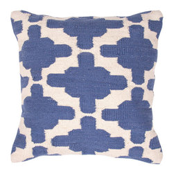 Jaipur Rugs - Cadiz Gazir Pillows Set of 2 - The color palette and pattern of this hand-woven pillow set call to mind the crisp, clear Mediterranean. It would be a refreshing addition to your living room, bedroom or even a nursery.