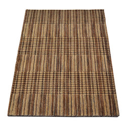 Modern Nepali Area Rug, 2'X3' Hand Knotted 100% Wool Raised Striped Rug SH7432 - Our Modern & Contemporary Rug Collections are directly imported out of India & China.  The designs range from, solid, striped, geometric, modern, and abstract.  The color schemes range from very soft to very vibrant.