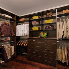 Traditional Closet by Valet Custom Cabinets & Closets