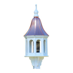 "Large Copper-Vinyl Bird Feeder Gazeblo - Entice feathered friends while adding curb appeal to your place with this stunning gazebo feeder! Standing 40"" tall, there's never a worry of rotting, cracking, splitting or fading... guaranteed!"