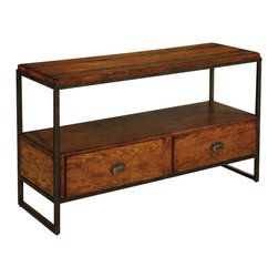 Hammary - Baja Entertainment Console Table - One storage shelf. Bottom has two drawers. Limited warranty. Assembly required. 54 in. W x 18 in. D x 30 in. H