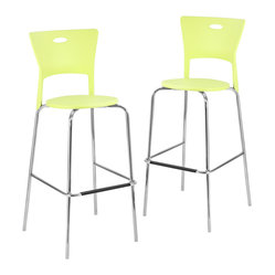 Mimi Bar Stools Green, Set of 2