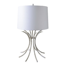 Gilded Nola - Rivers Beige Table Lamp - More radiating shapes but this time in a more substantial material. The Beige finish makes it easy to place.