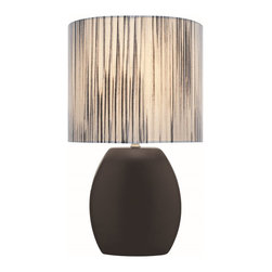 Lite Source - Lite Source Reiko Kids Table Lamp XSL-KLB60512 - Linear detailing and contrasting colors help to create interest and appeal to this Lite Source table lamp from the Reiko Collection. This kids table lamp is constructed of ceramic finished in a clean Black hue. The matching fabric shade in a cylindrical shape compliments the design, making this look perfect for a wide age range.