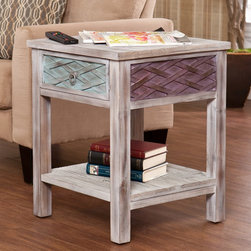 Upton Home - Lafond End/ Side Table - Add stylish functionality to any room with this pretty side table. This piece features a top perch for setting down beverages and whatnot, a bottom shelf for storing literature and the like, and a roomy drawer for stashing unsightly unmentionables.