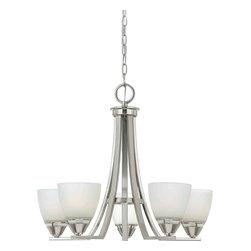 Quoizel Lighting - Quoizel IE5005BN Ibsen Brushed Nickel 5 Light Chandelier - 5, 100W A19 Medium