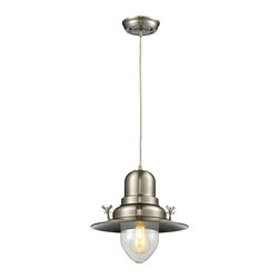 ELK Lighting - ELK Lighting 55008/1 Wilton Station 1 Light Pendants in Brushed Nickel - With historic charm, the Wilton Station pendant is similar to those found at historic railroad stations. The Brushed Nickel finish updates the style for use in a variety of modern decors.