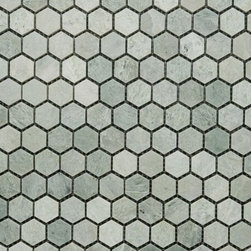 """Marbleville - Ming Green 2"""" Hexagon Polished Marble Mosaic  in 12"""" x 12"""" Sheet, Green, Lot of - Premium Grade Ming Green 2"""" Hexagon Polished Mesh-Mounted Marble Mosaic is a splendid Tile to add to your decor. Its aesthetically pleasing look can add great value to the any ambience. This Mosaic Tile is constructed from durable, selected natural stone Marble material. The tile is manufactured to a high standard, each tile is hand selected to ensure quality. It is perfect for any interior/exterior projects such as kitchen backsplash, bathroom flooring, shower surround, countertop, dining room, entryway, corridor, balcony, spa, pool, fountain, etc."""