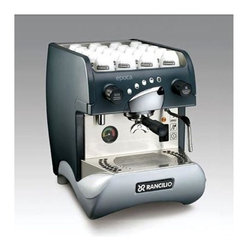 Rancilio - Epoca ST-1 Espresso Machine with 70-Drink-Per - The Epoca ST-1 espresso machine can make up to 70 drinks per hour and features an automatic boiler water level with anti-siphon valve as well as an out of water safety sensor which shuts down the element. Enjoy premium restaurant quality espresso  in your home all the time. Up to 70 drinks per hour. 3.9 liter copper boiler with welded heat exchanger. Automatic boiler water level with anti-siphon valve. Durable ABS over steel frame with stainless steel. 2 in. diameter boiler pressure gauge. Safety thermostat for boiler element with reset. Out of water sensor with element shutdown. Vibration pump. 15 in. W x 22 in. D x 19 in. H