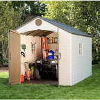 Lifetime - Lifetime Storage Shed (8' x 12.5') - Safely store your garden items, ATVs and more in this handsome shed from Lifetime. This storage shed will give your property a clean and organized look.