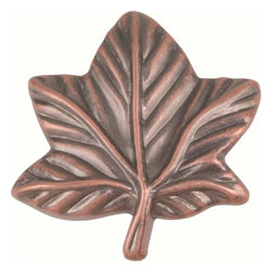 Atlas Homewares - Atlas Homewares 2203-C Leaf Rustic Metal 2-Inch Door Knob, Copper - Atlas Homewares 2203-C Leaf Rustic Metal 2-Inch Door Knob, Copper