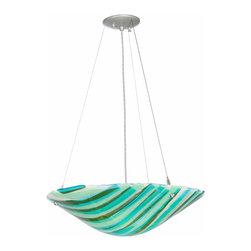 """Meyda Lighting - Meyda Lighting 112101 21""""W La Spiaggia Fused Glass Inverted Pendant - Meyda Lighting 112101 21""""W La Spiaggia Fused Glass Inverted Pendant"""