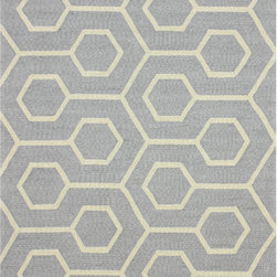 Nuloom - nuLOOM Handmade Modern Indoor/ Outdoor Trellis Grey Rug (5' x 8') - Beautiful contemporary designs woven with easy to clean polypropylene for both indoor and outdoor use.