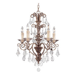 Savoy House - Savoy House 1-1397-5-256 Antoinette 5 Light Mini Chandelier - Savoy House 1-1397-5-256 Antoinette 5 Light Mini Chandelier