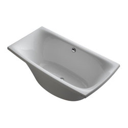 "Kohler - Kohler K-14037-0 White Escale 72"" x 36"" Freestanding Soaking Tub with - Tub Features:Kohler bathtubs are fully covered under warranty for up to a year after installationTub is constructed from an Acrylic material making it strong and flex resistantEmbrace a simple, modern look with the Escale CollectionEscale was inspired by Japanese ceramic tableware, giving a unique and contemporary designInstalls in a Free Standing configurationTub comes standard with molded lumbar support, furthering the user s comfortProduct Meets or Exceeds the Following Codes and Standards: CSA, ASTMPair this bath with other products from the Escale Collection for a coordinated elegant look in the bathroomProduct Technologies and Benefits:Material - Acrylic - A strong, flex resistant material with a smooth finish that resists chipping and cracking, as well as being easy to clean.Tub Specifications:Overall Height: 24-1/8"" (measured from the top of tub rim to the bottom of basin)Overall Width: 36"" (measured from back most to front most point on outer rim)Overall Length: 72"" (measured from left most to right most point on outer rim)Basin Width (Bottom): 21-5/8"" (back to front measurement of the bottom of basin walls)Basin Length (Bottom): 46-3/4"" (right to left measurement of the bottom of basin walls)Basin Width (Top): 34-3/8"" (back to front measurement of the top of basin walls)Basin Length (Top): 69-15/16"" (right to left measurement of the top of the basin walls)Water Depth: 16-1/2"" (depth of water at tub s maximum capacity)Maximum Water Capacity: 71-gallonsDrain Location: ReversibleVariations On This Tub:K-14037: This modelK-11343: Drop-in version of this model with center drainAbout Kohle"
